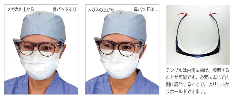 メガネの上からのご使用方法